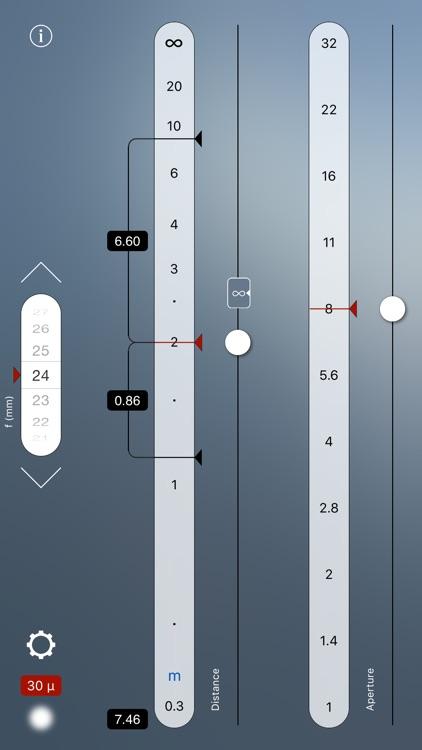 TrueDoF Depth of Field Calculator