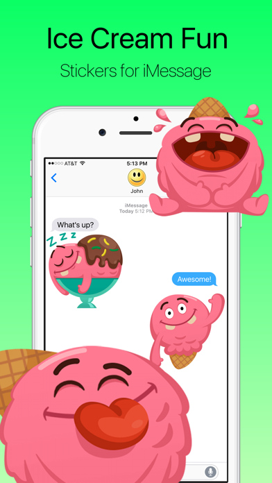 Ice Cream Wants to Have Fun Stickers screenshot one