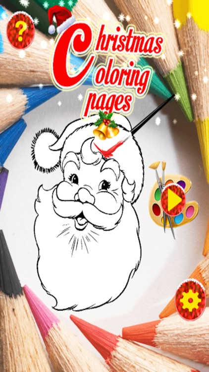 Christmas Santa Coloring Pages -Kids Coloring Book screenshot-0