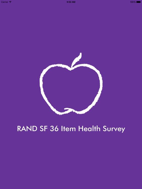 RAND SF 36 Item Health Survey