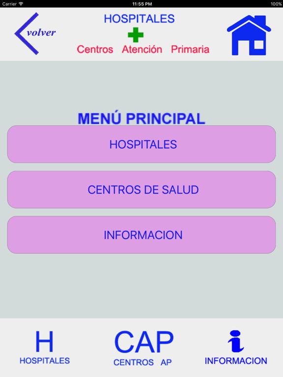 HOSPITALES Y CENTROS DE AP screenshot 7