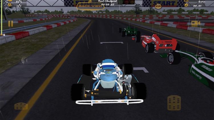 Kart VS Formula Sports Car Race