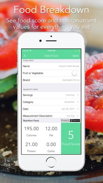 iMacro - Diet, Weight and Food Score Trackerのおすすめ画像4