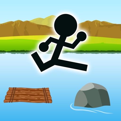 ジャンプで川下り