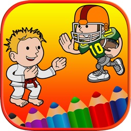 Kids Coloring Pages Free - Sports Baby First Words