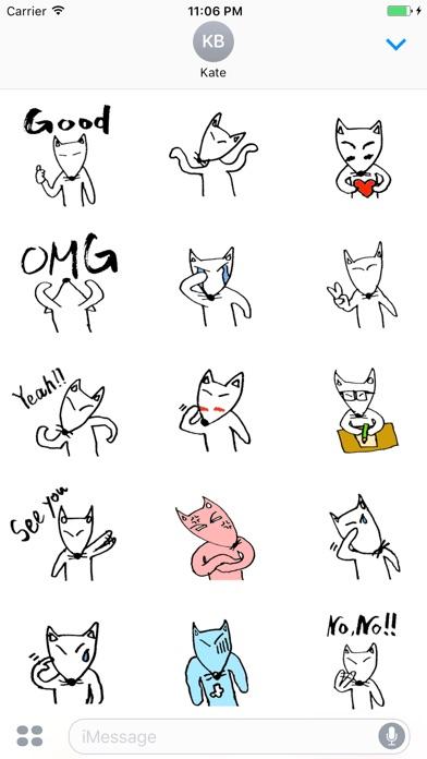Cooper The Funny Little White Fox Stickers