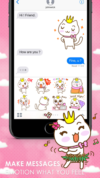 KIKI Stickers Emoji Keyboard By ChatStick screenshot two