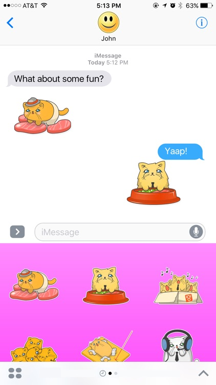 Fluffy Cats Stickers