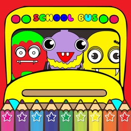 My ABC Cartoon School Bus Coloring Games for Kids