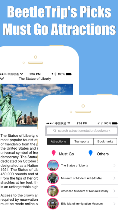 New York travel guide offline city metro train map screenshot three