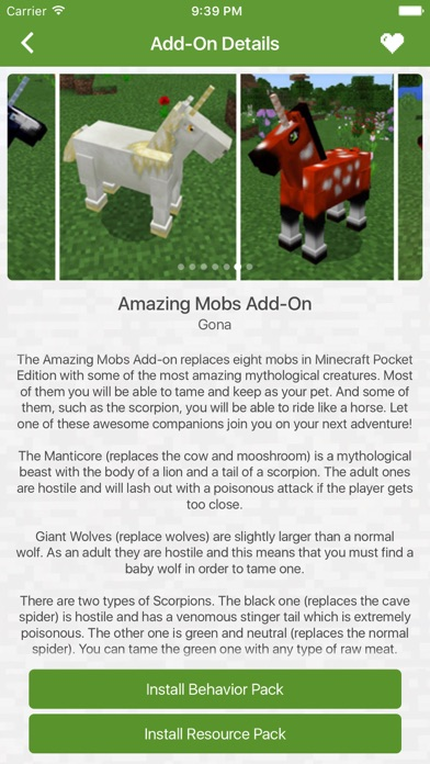 Add Ons for Minecraft PE (Minecraft Addons) app image