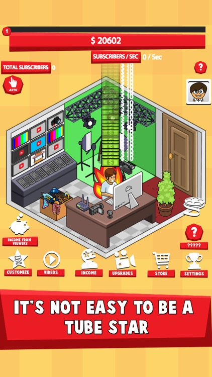 Tube Tycoon Simulator -Tap Tuber Idle Clicker Game