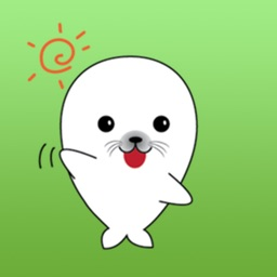Lovely White Seal Stickers