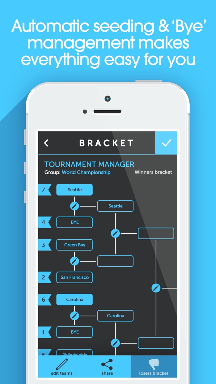 My Bracket - Tournament Manager for Amateur Sports Screenshot