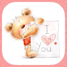 I Love You - Cute Teddy Bear Stickers for messages