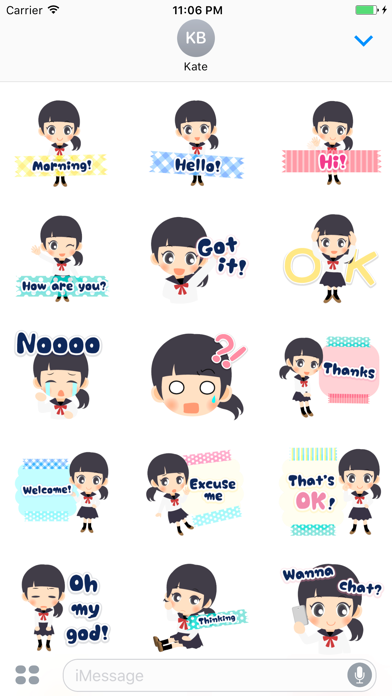 Iesha The Lovely Student Girl Stickers