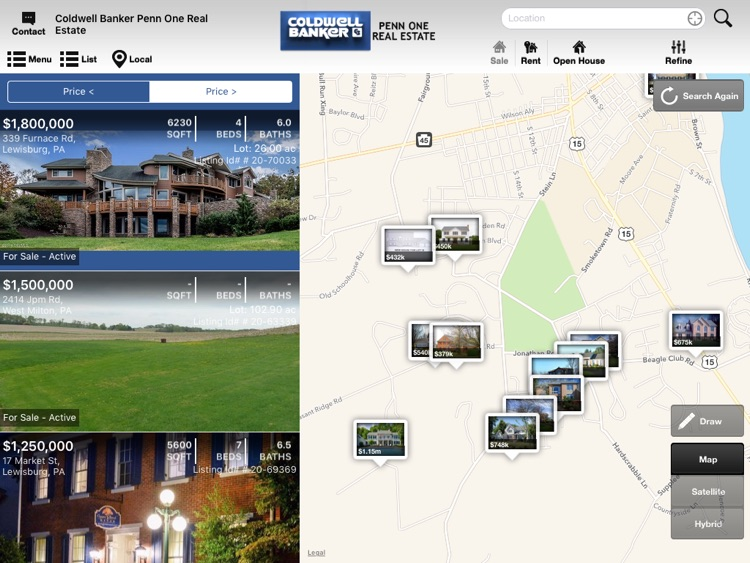 Coldwell Banker Penn One Mobile for iPad
