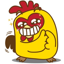 Yelo the naughty chicken for iMessage Sticker