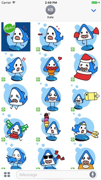 ステッカー,スタンプ,Hellowe Stickers: Iron Shark YoDoのスクリーンショット2