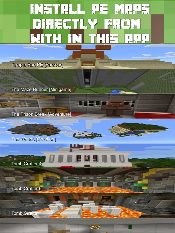 Screenshot #1 for Maps for Minecraft PE FREE - One Touch Install