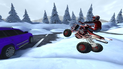 ATV Quad Bike Snow Parking Simulator 2017 screenshot 1