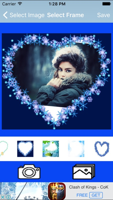 Blue Heart  Romantic Photo Frame screenshot two