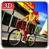 自行车比萨饼送货男孩&骑模拟器