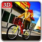 Fahrrad-Lieferservice Boy & Riding-Simulator icon