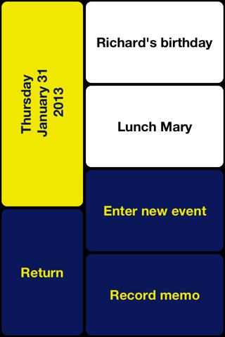 VO Calendar - náhled
