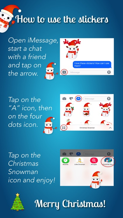 Christmas Snowman - Holiday Emoji screenshot-4