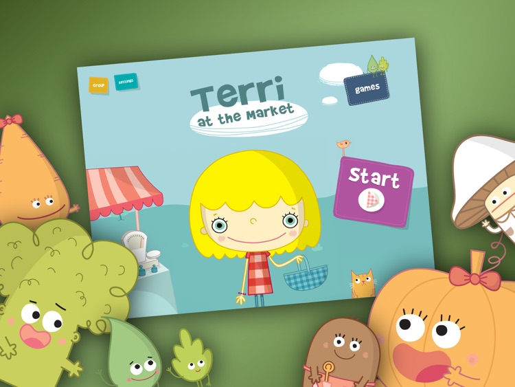 Terri at the Market - Interactive book for Kids