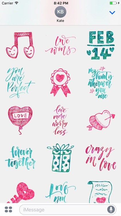 Valentine's Love Greetings for iMessage Stickers
