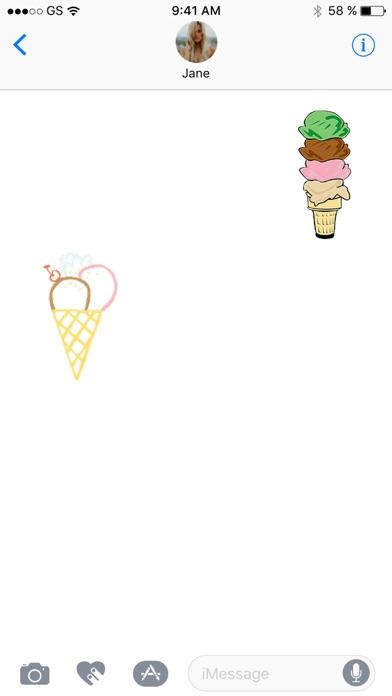 冰淇淋八貼紙包屏幕截圖2