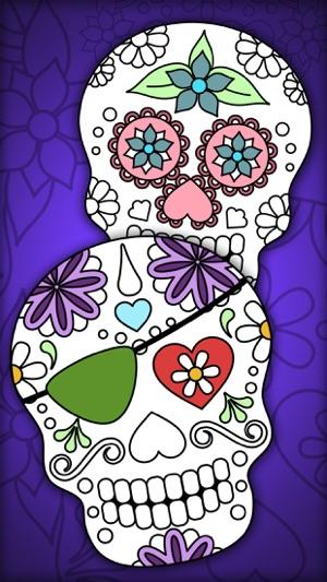 Calaveras mejicanas – Libro para colorear adultos en App Store