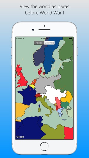 Great war map interactive wwi map of the world on the app store screenshots gumiabroncs Gallery