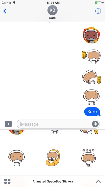 Animated SpaceBoy Stickers For iMessage screenshot-3