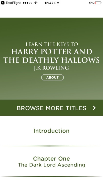 Summary For Harry Potter And The Deathly Hallows