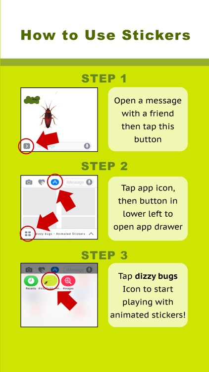dizzy bugs - Animated Stickers screenshot-4