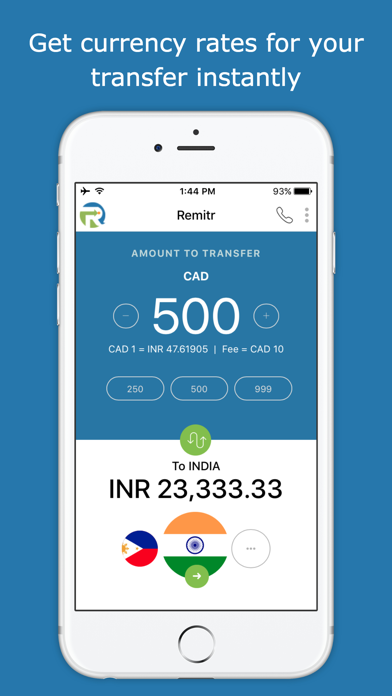 Remitr Money Transfer screenshot one
