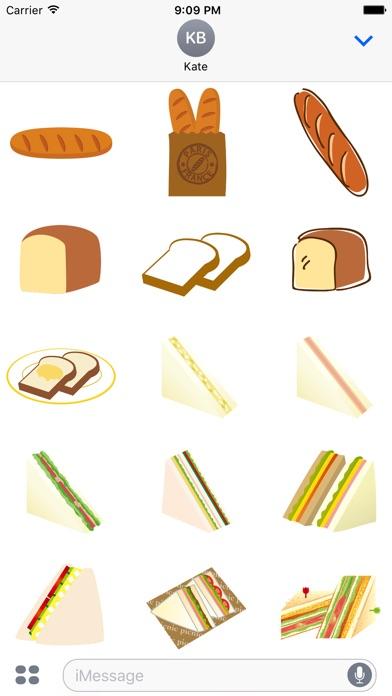 貼紙誘人食慾的麵包屏幕截圖2