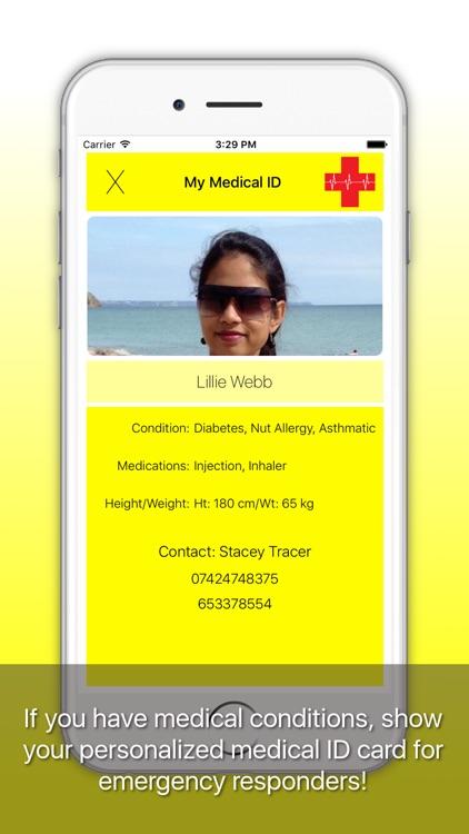 Emergency-ICE: Medical ID, Alarm, SMS, Location screenshot-3