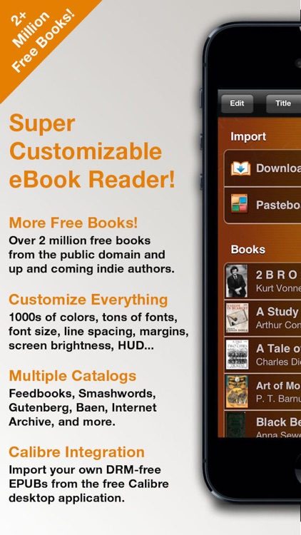 MegaReader - Customizable eBook Reader