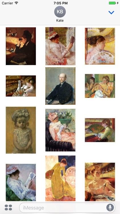 Mary Cassatt Artworks Stickers