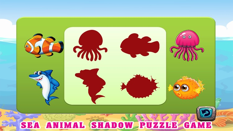 Sea Animals Kids Coloring Pages - Vocabulary Games screenshot-4