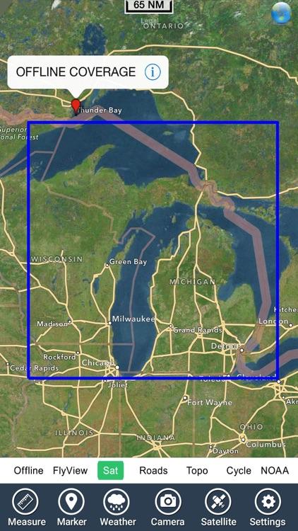 Michigan Lakes Fishing Charts screenshot-4