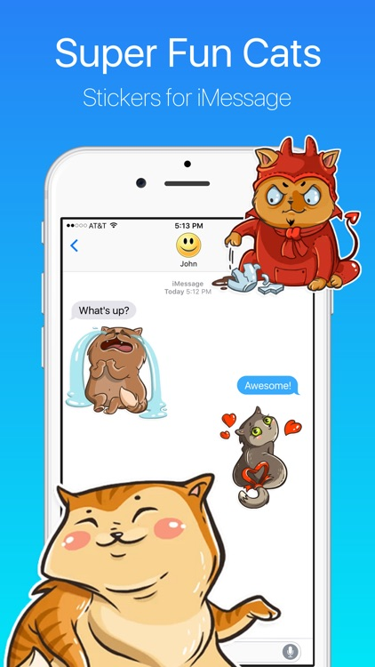 Super Cat Tom Tales Stickers for iMessage