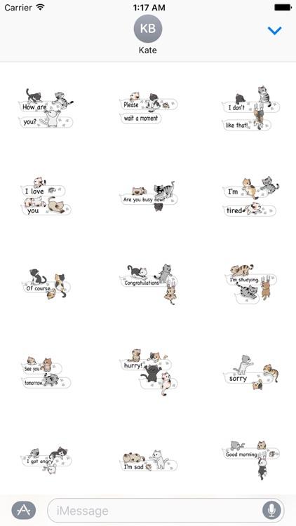 Cat Cat Cat English Version Stickers Pack