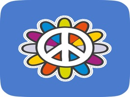 This animated, cute peace and love themed sticker app is sure to entertain you and your friends