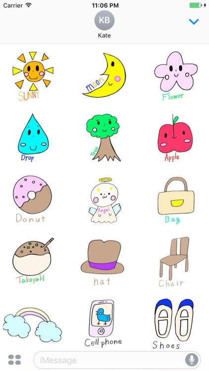 The Cute English Stickers