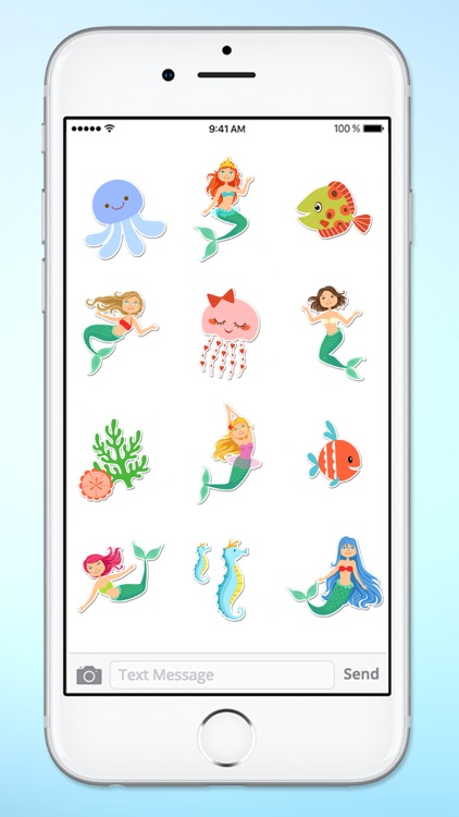 Magical Mermaids & Under Sea Friends Sticker Pack screenshot-3